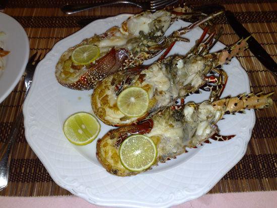马尔代夫厨师烹制的龙虾