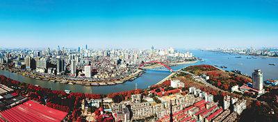 武汉鸟瞰,江汉汇流。长江日报供图