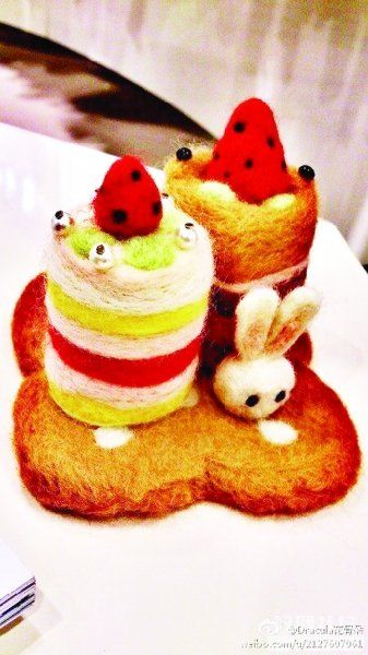 """用毛线编织的""""小蛋糕"""".图片来自网络"""