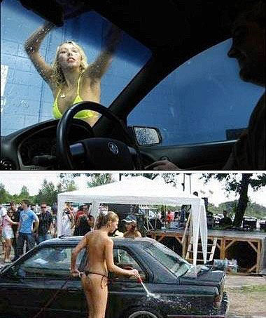 全裸洗车超享受