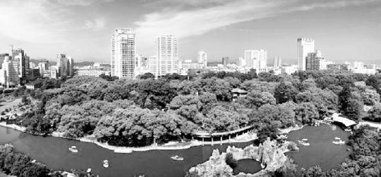 宜昌市区俯瞰图。图片来源于宜昌市人民政府网