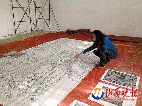 妻子汪国云帮刘庸之整理作品