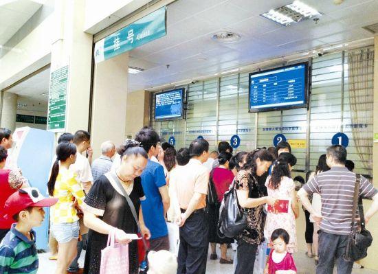 武汉市儿童医院等13家医院的门诊挂号