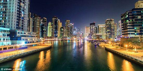 全方位实拍迪拜美轮美奂城市景观
