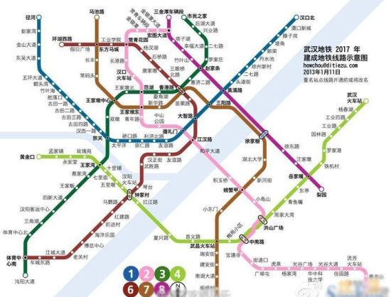 2017年建成的7条地铁线路