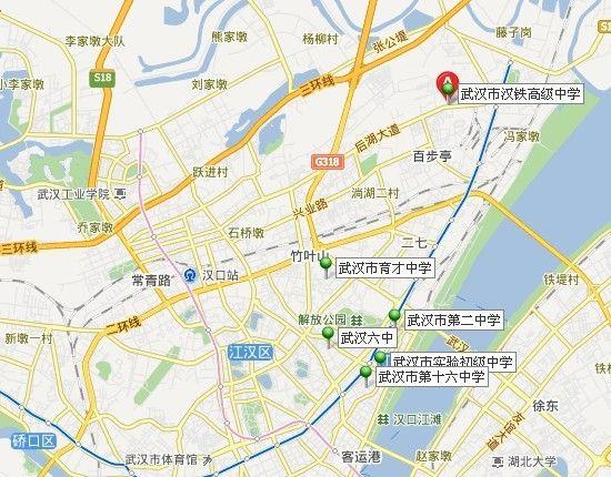 2013武汉中心城区高考考点