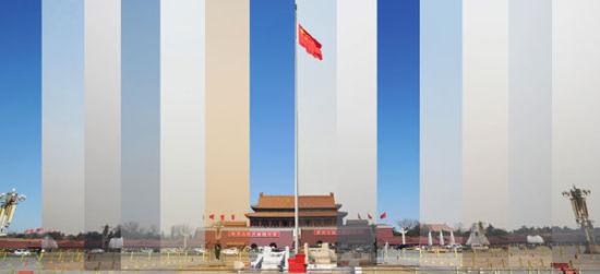 """今年全国""""两会""""期间北京空气质量变化图。CFP"""