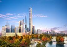 汉口将建88层438米最高楼 目前建至第六层