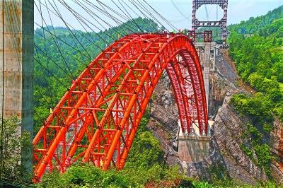 恩黔高速龙桥特大桥合龙