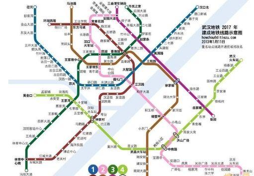 2017年建成的地铁线路