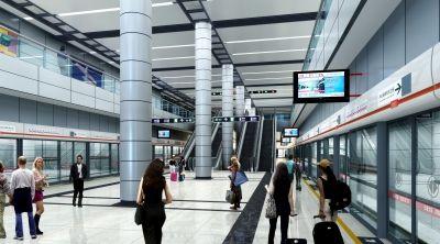 机场交通中心地铁站台