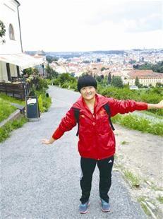 刘群在捷克首都布拉格
