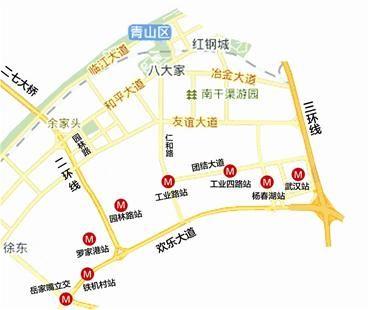 武汉地铁4号线年底通车 青山两地铁站盼加速对接图片