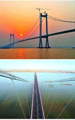世界首座千米级三塔悬索桥武汉造