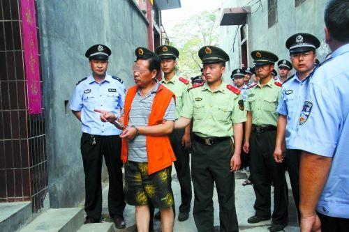 嫌犯被公安机关抓获 林州市公安局供图