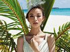 倪妮甜美造型登婚恋杂志封面 裙摆随风飘逸