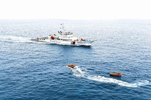 """驶入太平洋的""""海巡01""""即将穿越赤道"""
