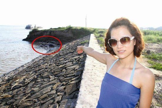 荆州市民江边戏水发现一具尸体 事发李埠沿江码头