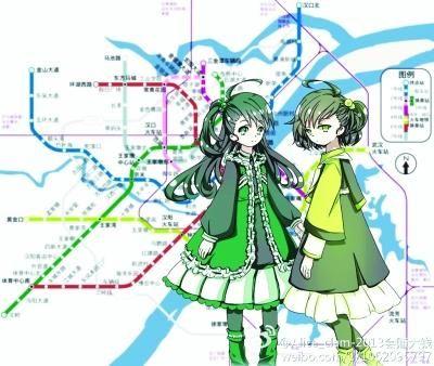 地铁3、4号线拟人漫画。图片来自网络