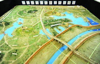 盘龙城遗址风景区规划模型。