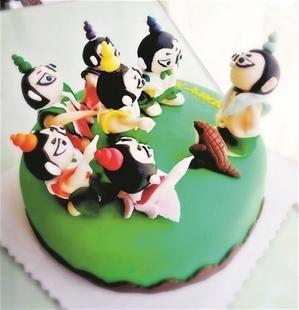 葫芦娃蛋糕
