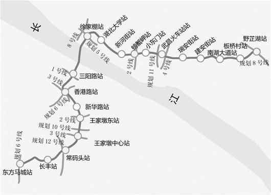 图为:7号线一期线路走向示意图