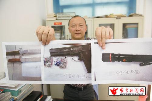 警方查获的舒某所持有的凶器