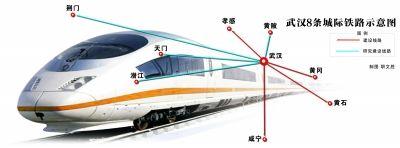 武汉始发城际铁路拟增至8条