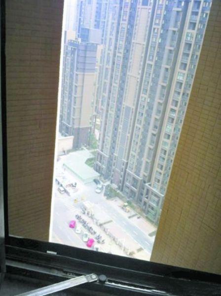 雪辰生前在住处拍的窗外高楼受访者供图