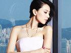高圆圆登杂志封面 性感低胸白裙显优雅魅惑