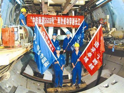 地铁4号线二期左线穿越长江