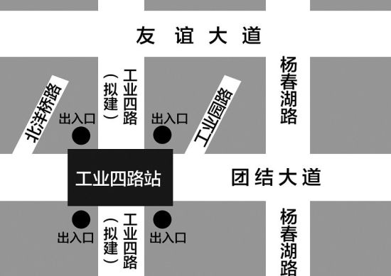 地铁4号线工业四路站