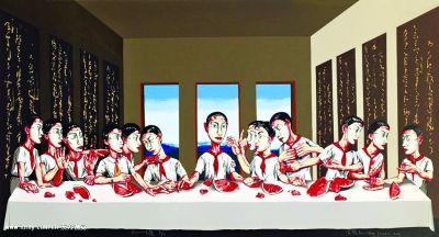 《最后的晚餐》(油彩画布) 曾梵志