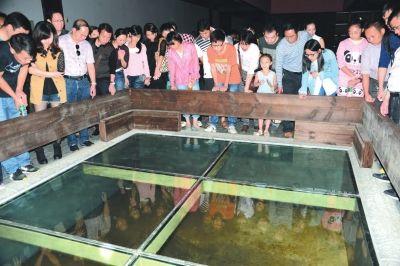 游客在楚王车马阵景区参观游客在楚王车马阵景区参观。(记者梅闻摄)