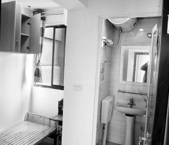 图为:光谷一个小区里业主隔成的胶囊房