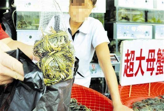 图为:购买螃蟹小心商家玩秤 摄影记者黄士峰