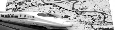 武黄城际铁路车站示意图