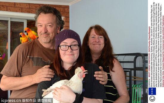 澳少女人工呼吸救爱鸡 母鸡当场下蛋报恩