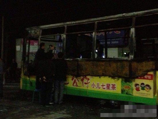 公交车被烧毁