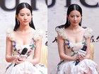 刘亦菲超低胸裙弃玉女形象 白裙扮性感女神