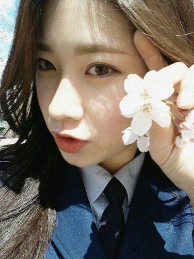 韩国军校女生甜美可爱