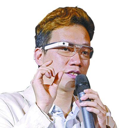 谷歌眼镜中国开发者何英琪。 记者王翮 摄