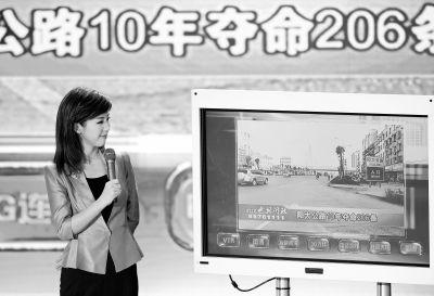 新洲阳大公路10年夺命206条。记者金思柳 摄