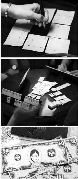 """图为:门萨会员玩游戏,赌注是""""门萨币"""""""