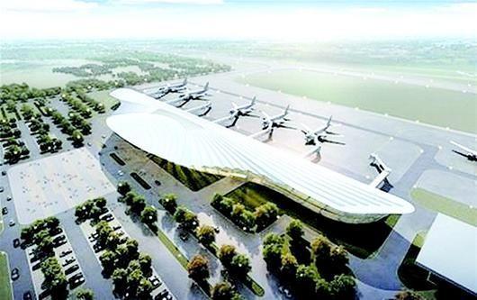 襄阳机场改扩建后效果图