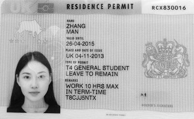 张曼遗失的签证(局部)