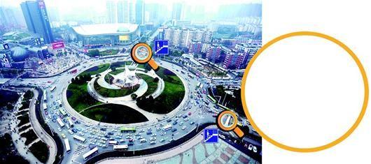 图为:今年内,民族大道路口和珞喻路口将各添一座人行天桥(如图示) (记者刘大家摄)