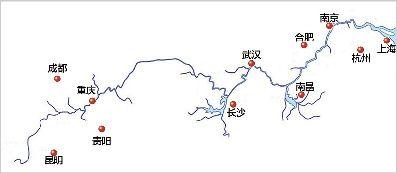图为:长江经济带覆盖九省和两个直辖市