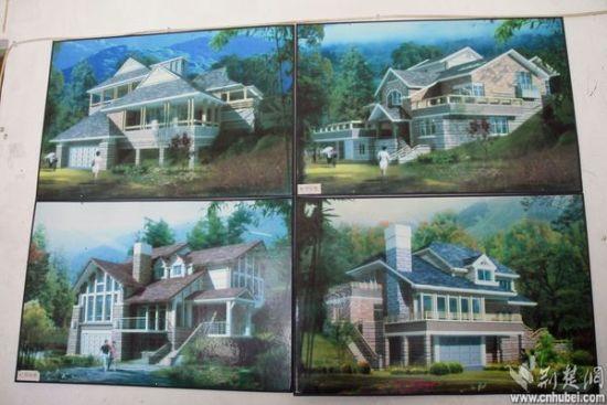 度假村内的别墅式酒店建成后的示意图