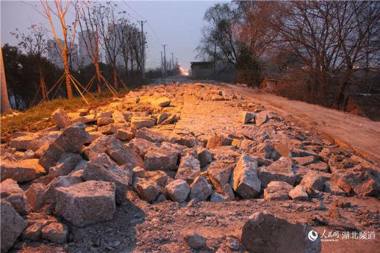 武汉张公堤城市森林公园路面一年不到挖毁重修